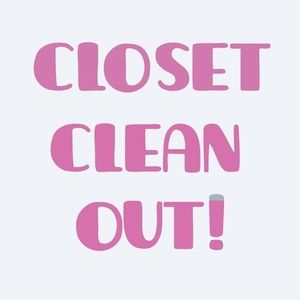 Closet clear out, all reasonable offers we…